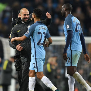 during the Premier League match between Manchester City and Arsenal at the Etihad Stadium on December 18, 2016 in Manchester, England.