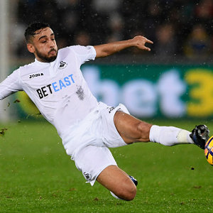during the Premier League match between Swansea City and Sunderland at Liberty Stadium on December 10, 2016 in Swansea, Wales.