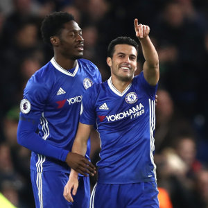 during the Premier League match between Chelsea and AFC Bournemouth at Stamford Bridge on December 26, 2016 in London, England.