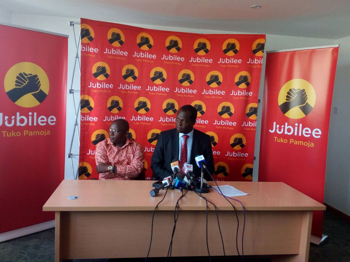 Jubilee challenges NASA to come clear on cartels financing its campaign