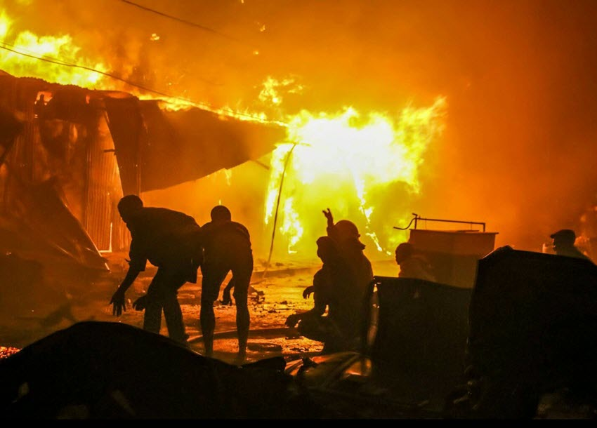 Dormitory fire destroys property  of unknown value at a school in Homabay