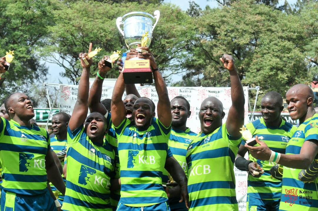 KCB are the  Enterprise Cup  champions for the  third time !