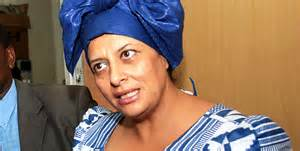Nazlin Umar protests before the IEBC commission for not listing her in the voter register & on the list of candidates