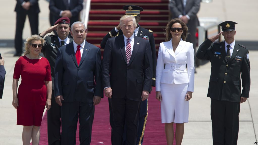 Donald Trump  arrives  in Israel as he continues his first foreign trip as US president.