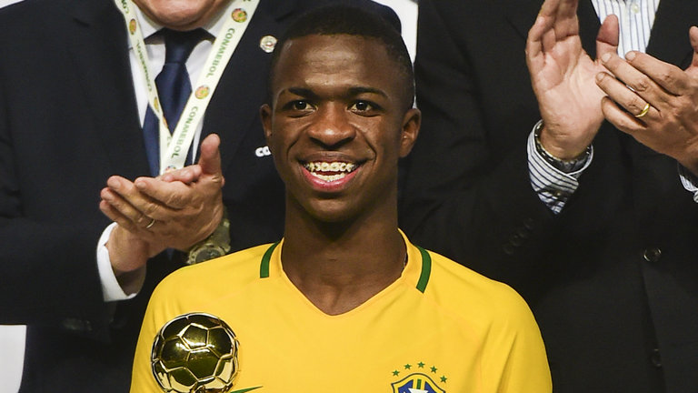 Real Madrid sign Vinicius Junior from Flamengo for reported £38m fee