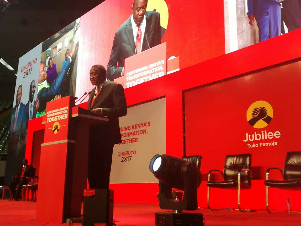 2017-2022 Jubilee Manifesto to  concentrate on job creation,transform the economy