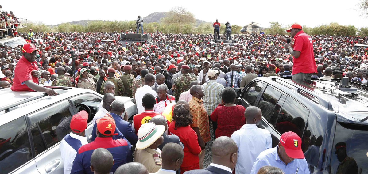 Jubilee takes re-election campaigns to Kitui,promise to continue their development agenda