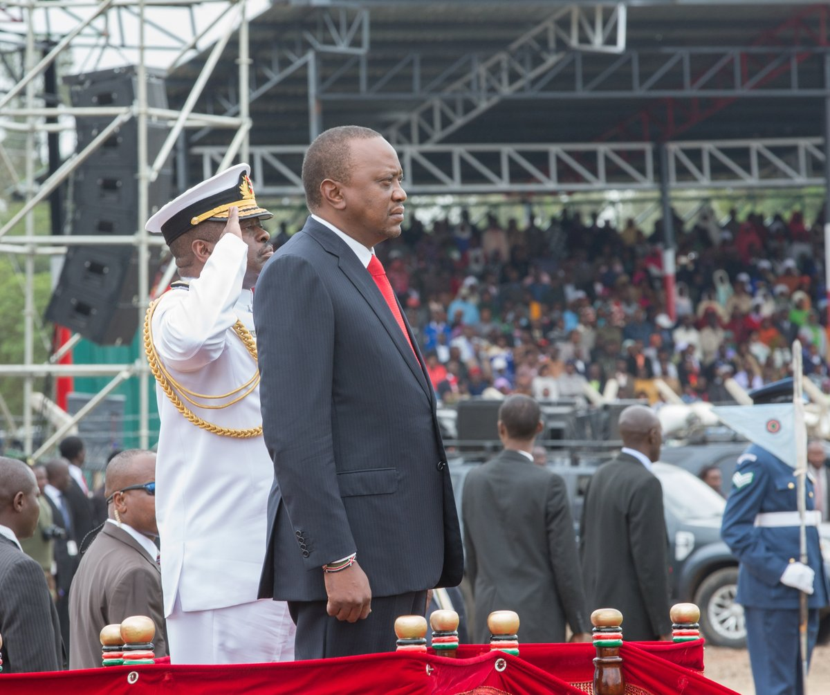 President Kenyatta leads the nation in  marking 54th Madaraka day,calls for peaceful elections