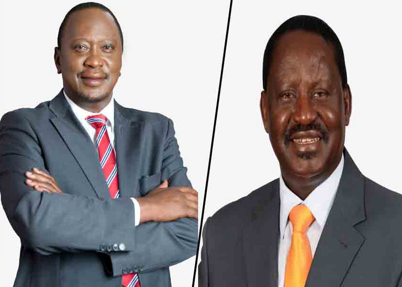 Survey by Africa Election Observation Group puts Kenyatta ahead of Odinga