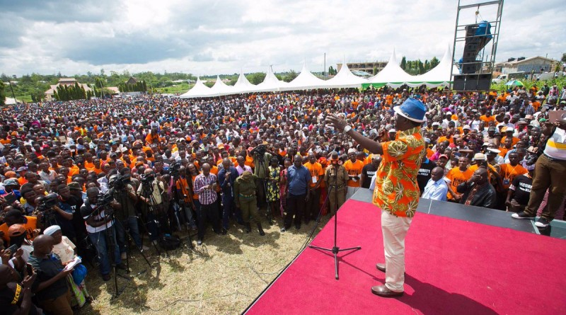 SGR project is not Jubilee's work it belonged to coalition govt,Odinga insists