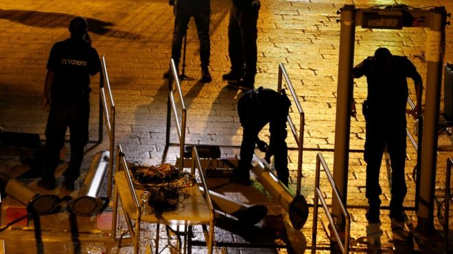 Israel removes flashpoint metal detectors at holy site