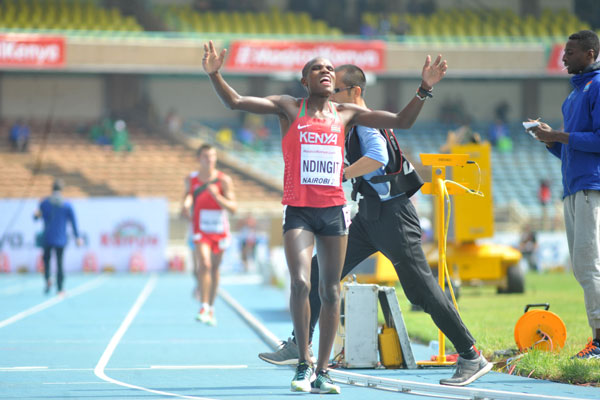 Kenya continues to harvest medals at the World Under-18 Championships as Dominic wins bronze