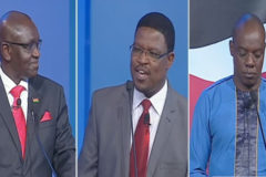 Three Presidential candidates  take part in first tier debate,promise to fight corruption
