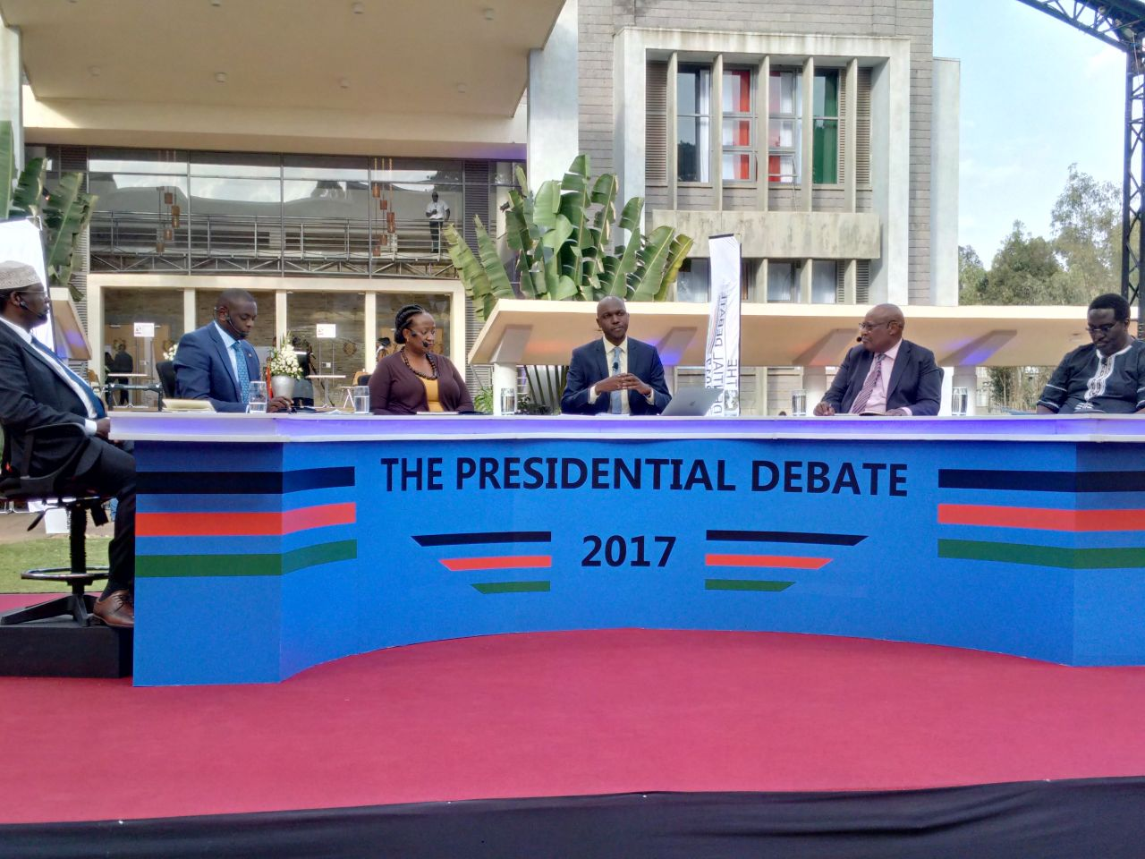Running mates give  their debate a wide berth as only one participant turn up