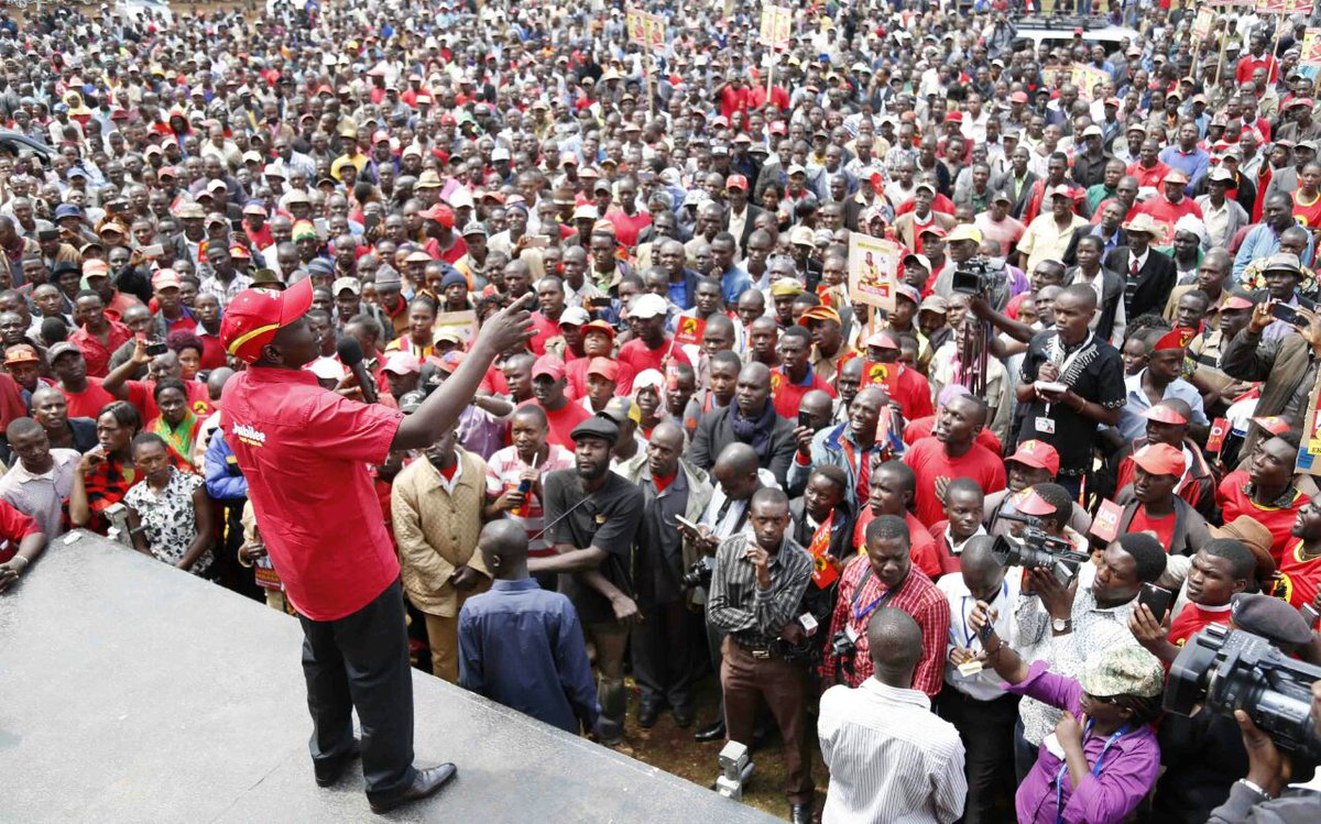 DP Ruto takes jubilee campaigns to Nyamira,Kisii urges residents give Jubilee 5 more years  owing to its track record