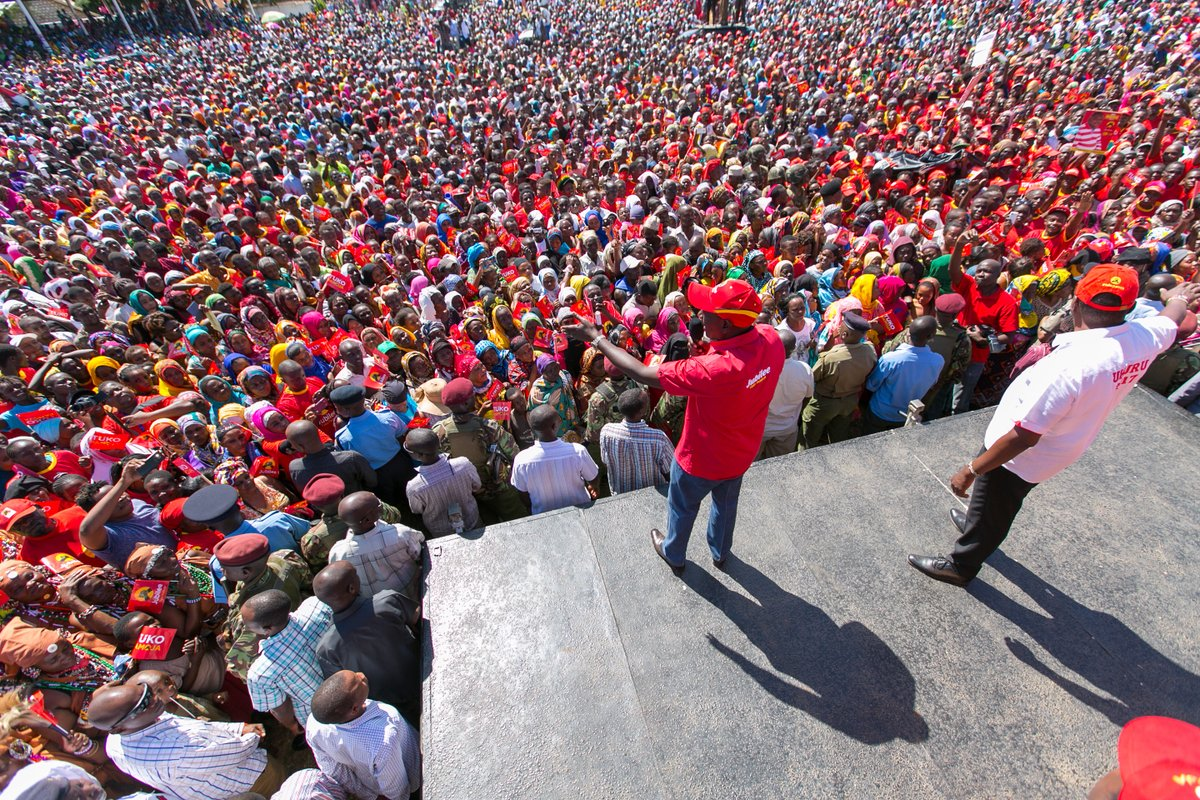 We are committed to a more united kenya,Uhuru,DP Ruto say as they tour Kwale
