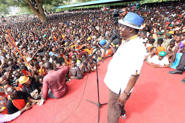 Your oil proceeds are safe with NASA government,Odinga says as he take campaign to Turkana