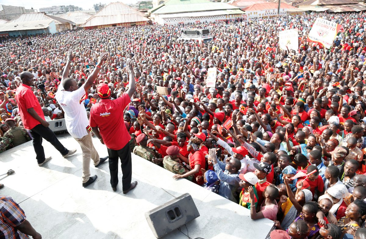 Jubilee continue with  campaigns at the coast as NASA head to Homa bay