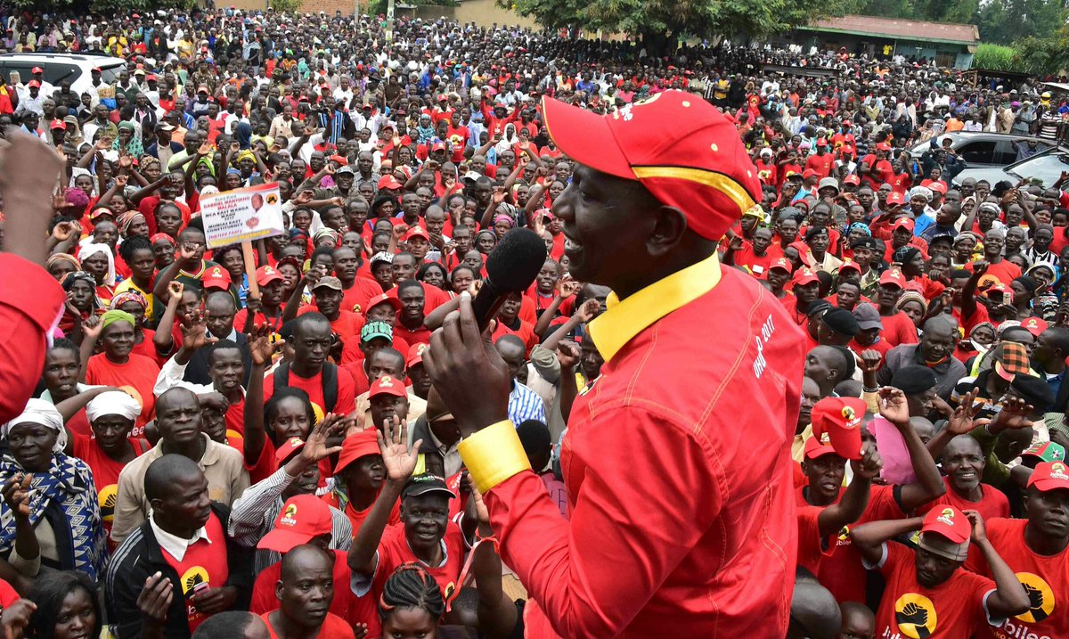 DP Ruto takes Jubilee campigns to Bungoma county,urges residents to vote for Jubilee based on Track record