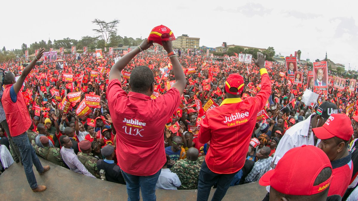Kenyatta,Dp Ruto  campaigns in  Nairobi,asks supporters to vote for Sonko-Igathe in governor race