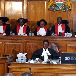 The supreme court verdict nullifying president Uhuru Win continue to elicit reactions as a petitioner  claims  Deputy CJ  and Judge Lenaola met NASA lawyers before verdict