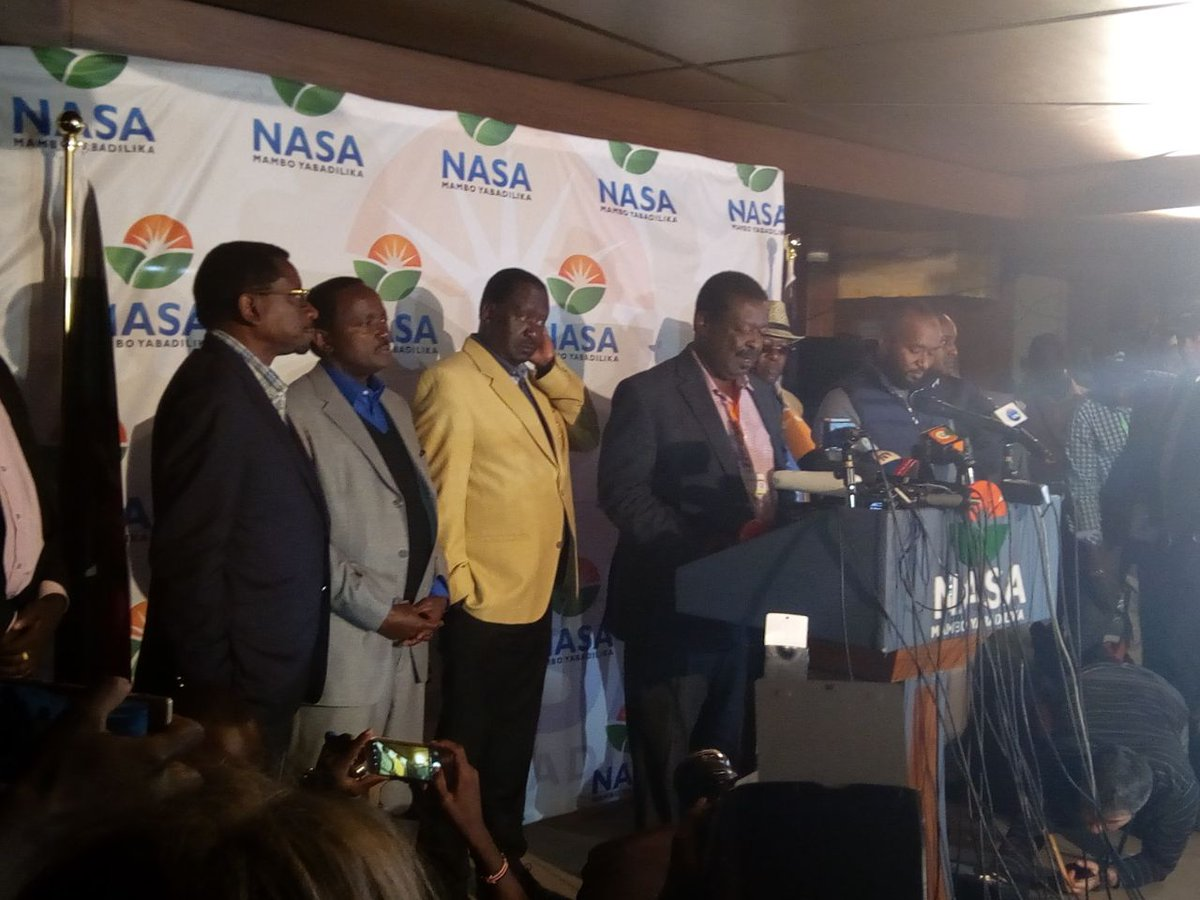 NASA wants Odinga declared winner of the presidential elections