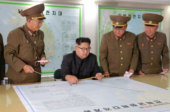 N Korea leader 'briefed' on Guam plan but opts to wait