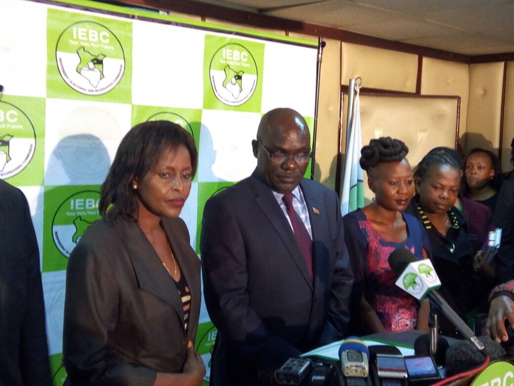 The president elect may be known  by midday Friday -IEBC