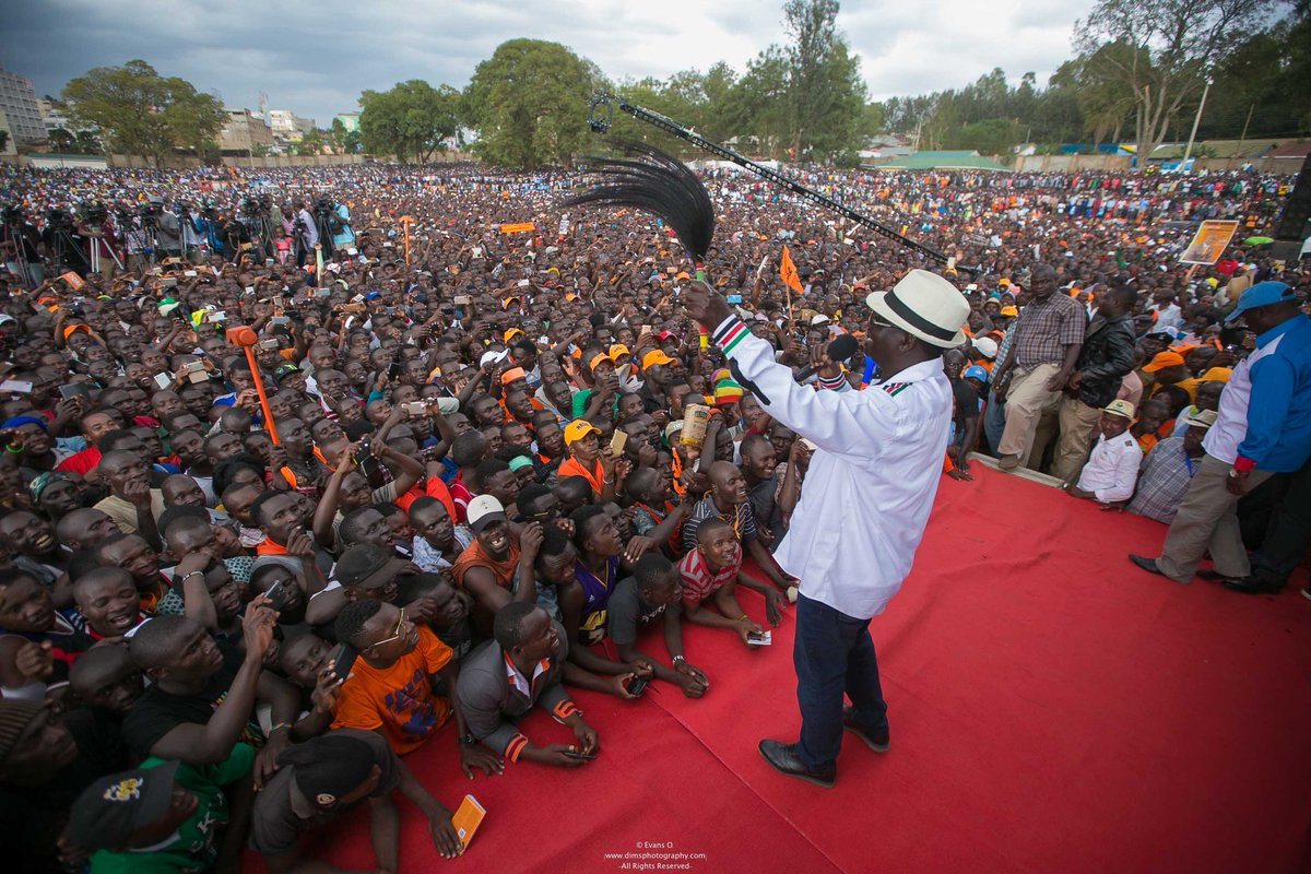 You must be vigilant and protect our vote,Odinga urges supporters as he takes campaigns to Kisii