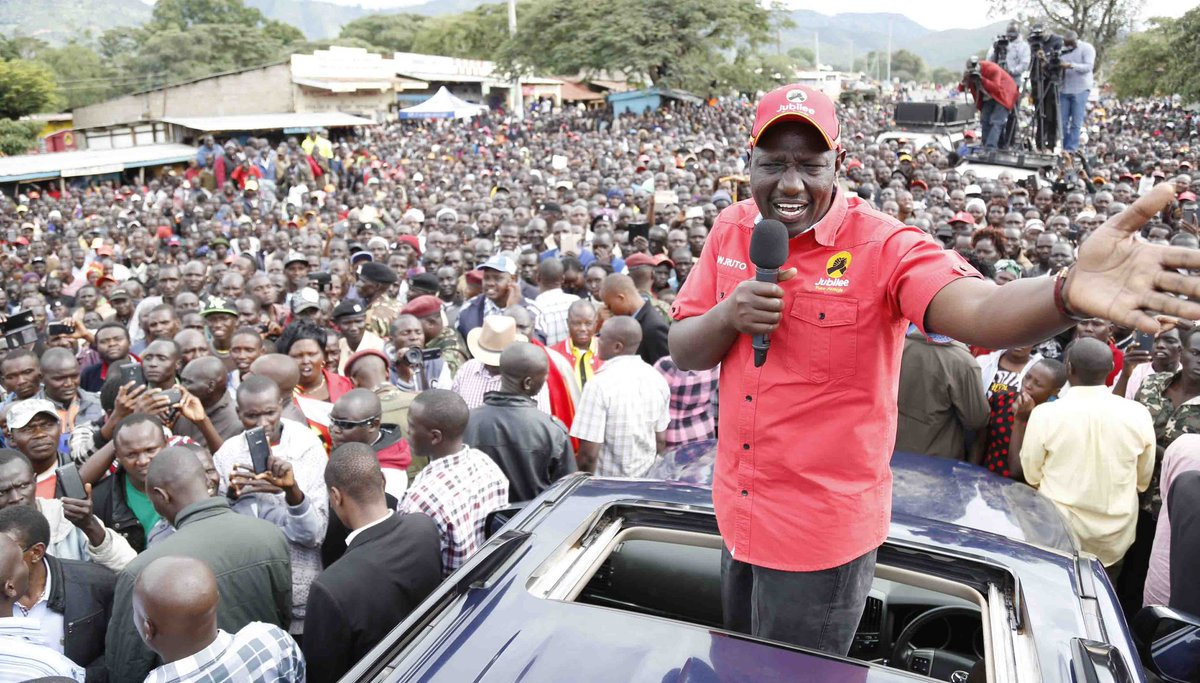 DP Ruto leads Jubilee campaigns in West pokot county,expresses confidence  Jubilee will win fresh round of election