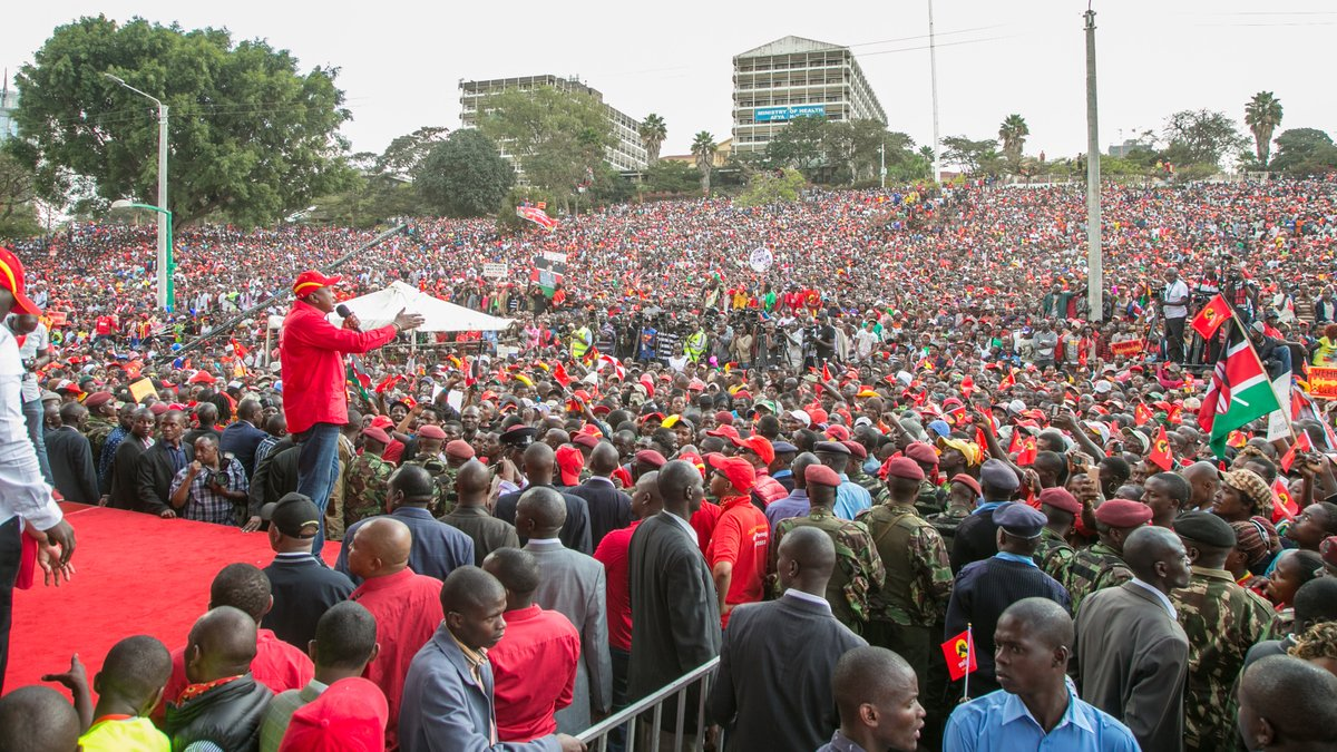 Maintain peace and come out in large numbers to vote Uhuru,DP Ruto urge supporters as they lead Jubilee  campaigns in Nairobi
