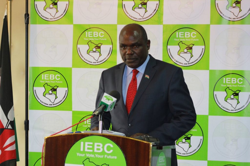 IEBC chair Wafula Chebukati appoints key officials in charge of various departments  ahead of fresh round of elections.