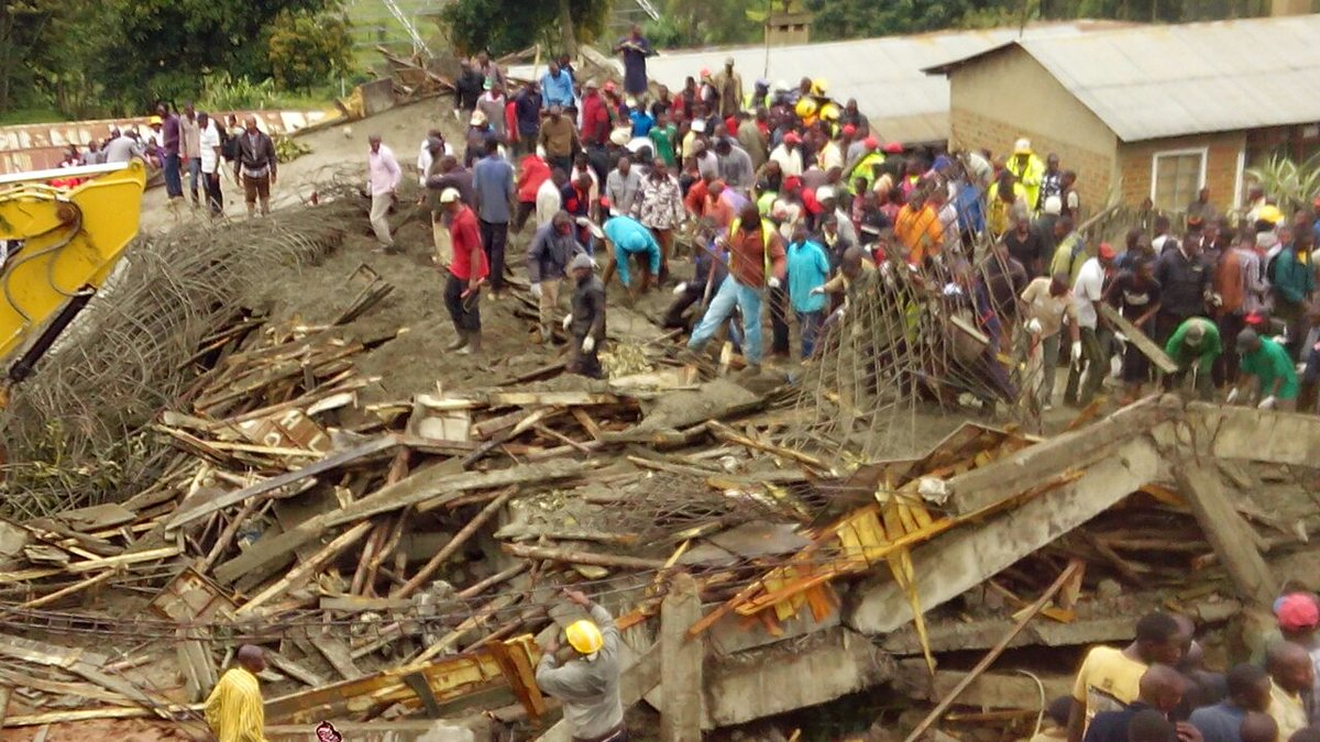 At least 40 rescued from a four Storey  building under construction that  collapsed in Kapsabet