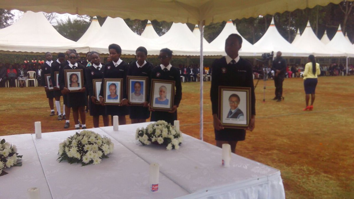 Memorial service for 9 students of Moi Girls school who perished in fire held