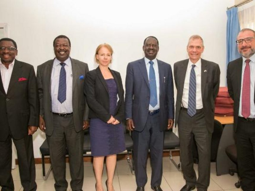 We appreciate the keen interest taken by  US, EU and UK  in the Kenyan electoral process,says Odinga as he meets envoys.