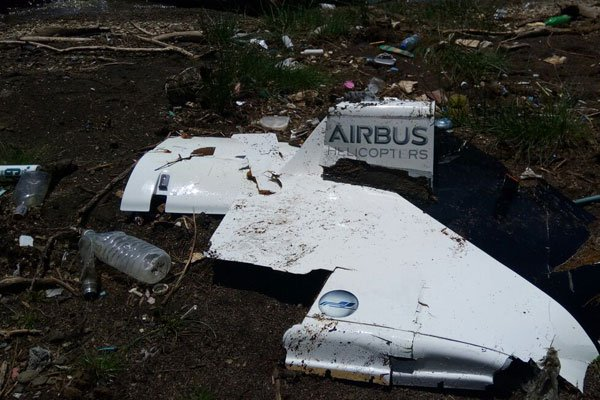 Mangled parts of Plane that plunged into lake Nakuru Saturday  recovered