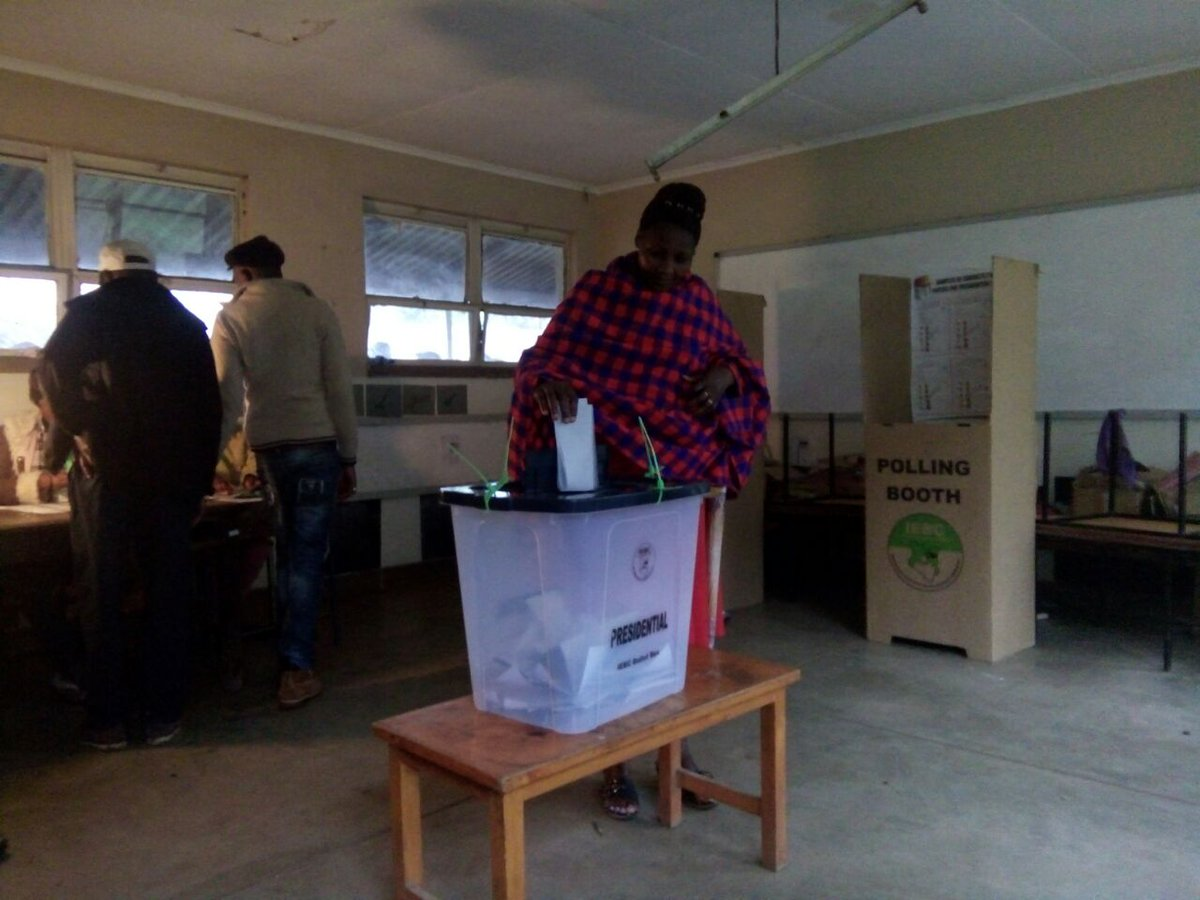 Voting kicks off as opposition stays away,www.upesinews.co.ke to keep you informed