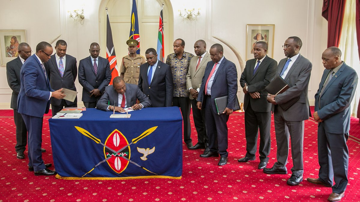 President Uhuru Signs into law the Supplementary budget to allocate Kshs 12 billion for Oct 26 fresh poll