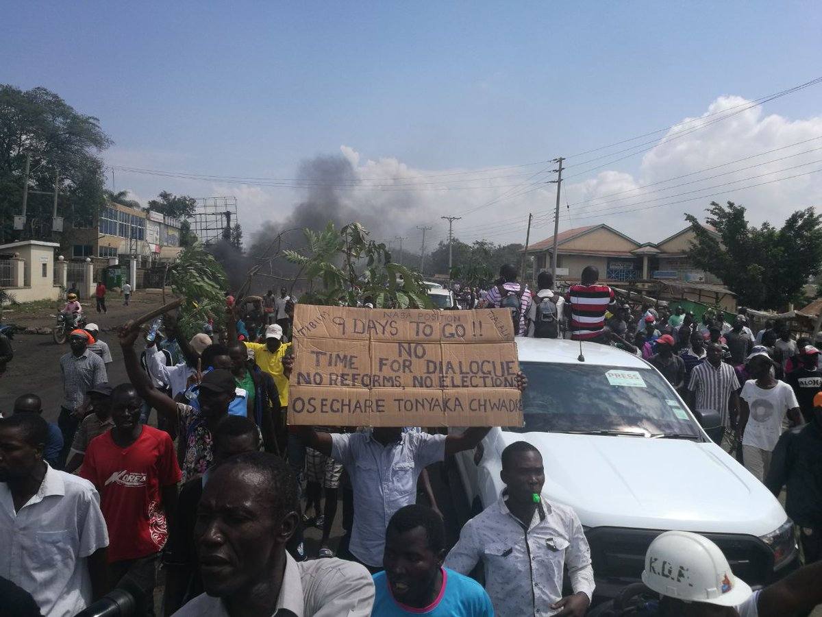NASA Supporters resume anti-IEBC demos countrywide