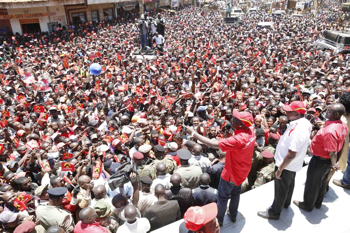 We will complete the work we started ,Uhuru promises as he takes Jubilee campaigns to Meru