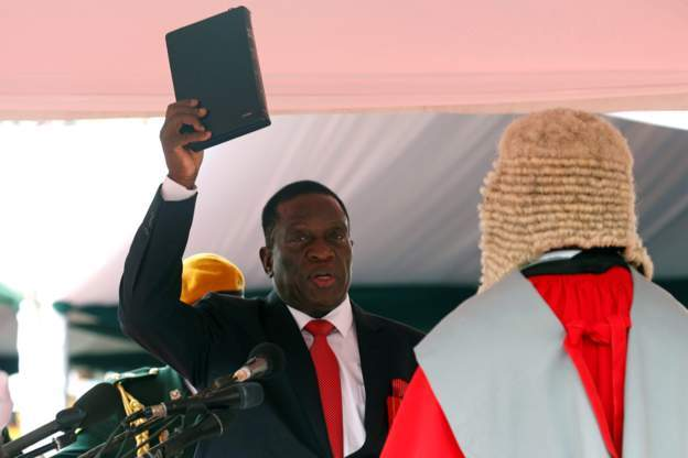 Emmerson Mnangagwa sworn in as a third president Of Zimbabwe promising to protect the sovereignty of all Zimbabwe people