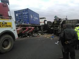 4 die in a road accident at salama as a bus rams into a stationary  lorry