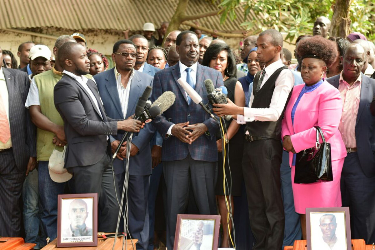 You can not stop the will of the people of Kenya,Odinga tells western countries