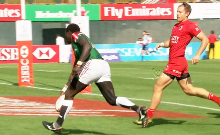 Kenya sevens rugby team shines in the opening round of Dubai sevens series