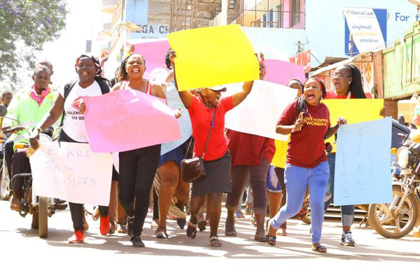 Sex workers protest killing of one of their own in Kisii