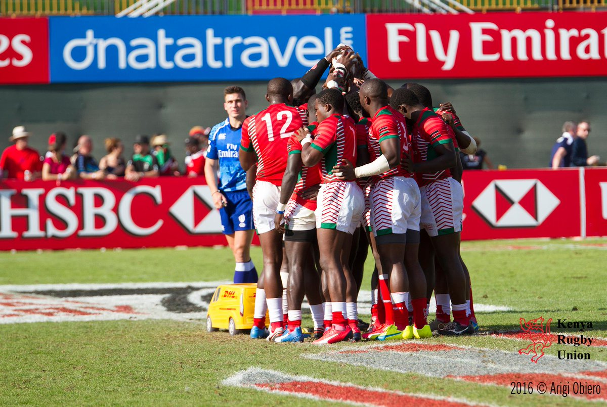 Shujaa qualify for the main Cup quarterfinals at Dubai Sevens after beating uganda