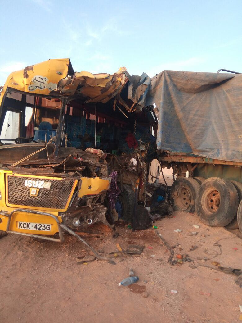 A bus rams into stationery truck in Wajir killing four people