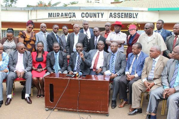 Shame of Murang'a MCAs fighting in the county assembly as  one is arraigned in court