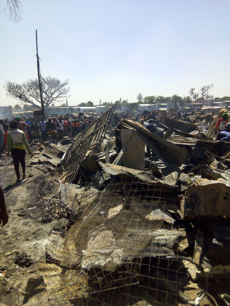DP Ruto visits victims of Langata fire tragedy,promises  government will help rebuild their houses