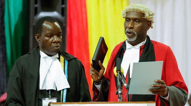 Charles Nyachae sworn in as judge of East African Court of Justice,to take office on July 1,2018